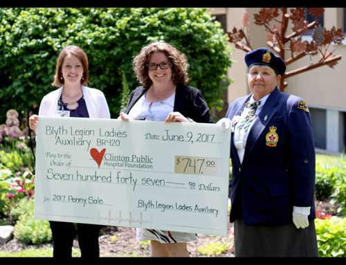 Blyth Legion Ladies Auxiliary Gives to CPHF