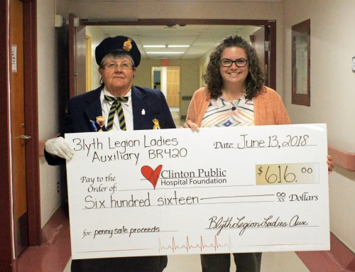 CPHF Receives Proceeds from Blyth Legion Ladies Annual Penny Sale
