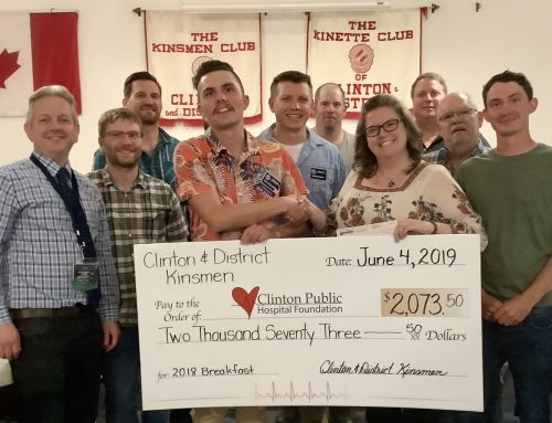 Clinton & District Kinsmen Donate Breakfast Proceeds