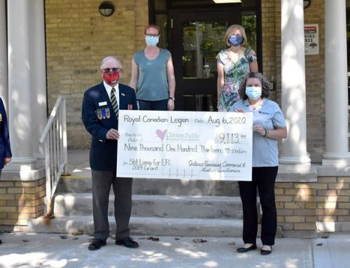 Foundation receives Royal Canadian Legion Grant