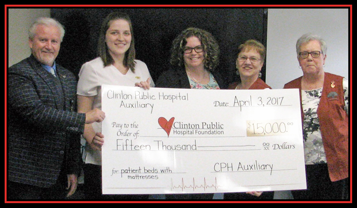Auxiliary Presents Donation to Hospital Foundation