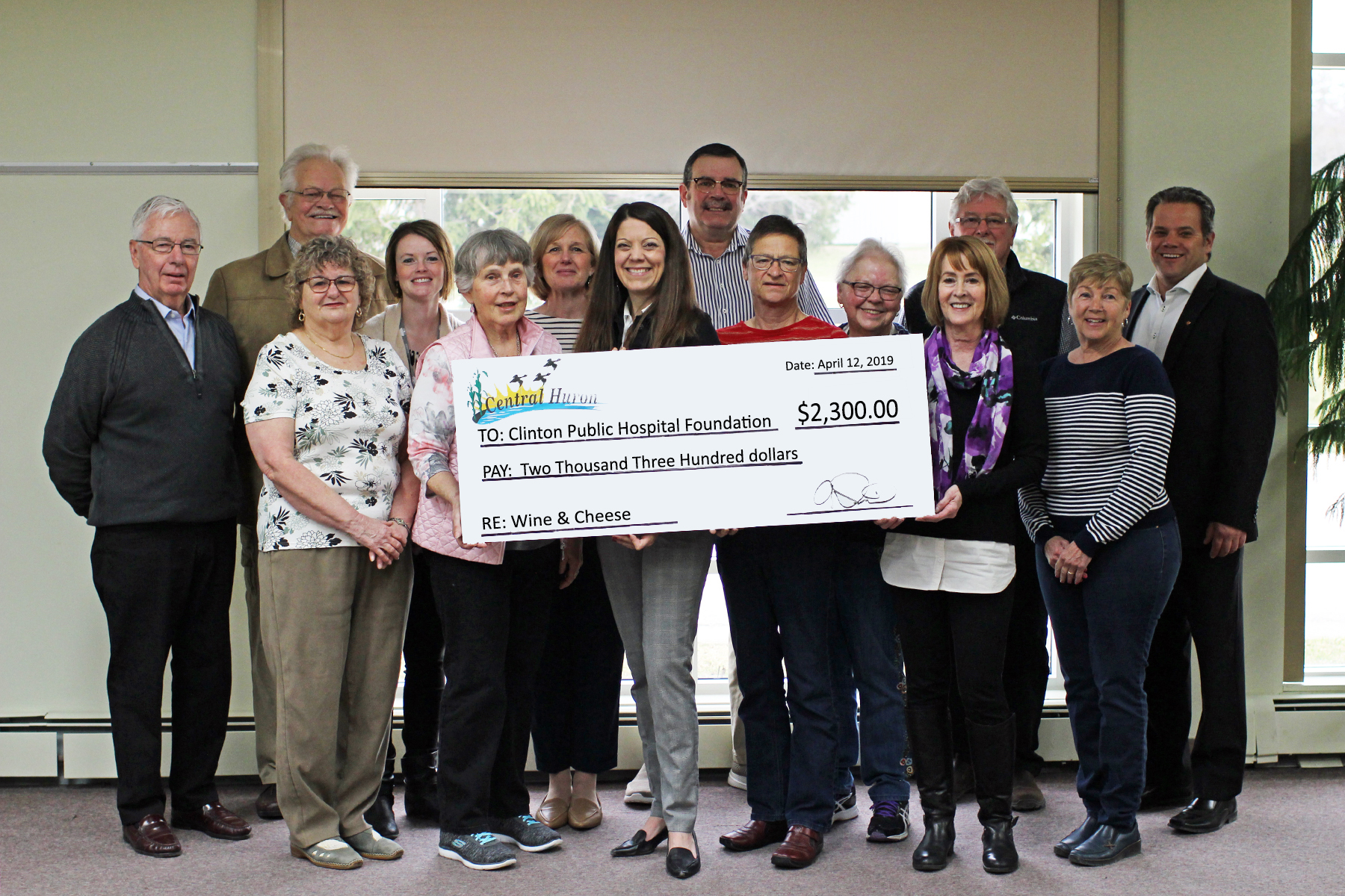 Central Huron Presents Foundation with Proceeds from Wine & Cheese Tasting