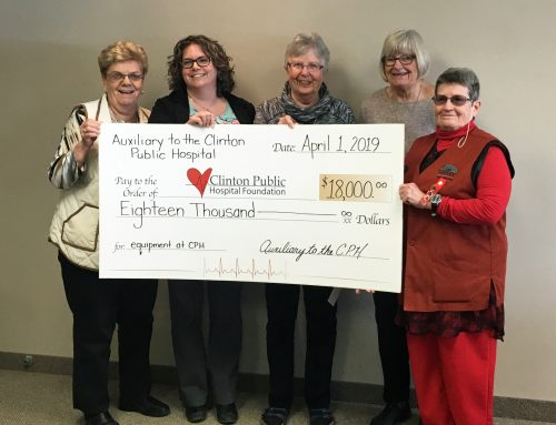Auxiliary to Clinton Public Hospital Transfers Funds for Hospital Equipment