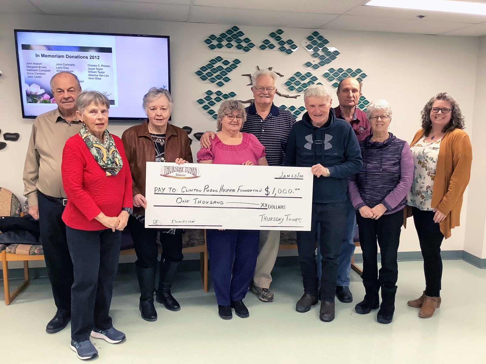 Thursday Tunes Committee Gives to Local Healthcare