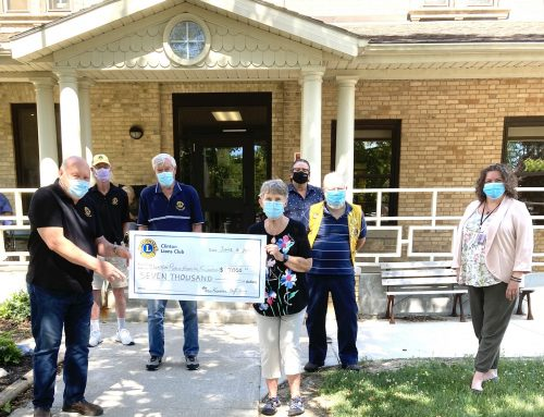 Clinton Lions Club Makes Final Donation to CPH Foundation
